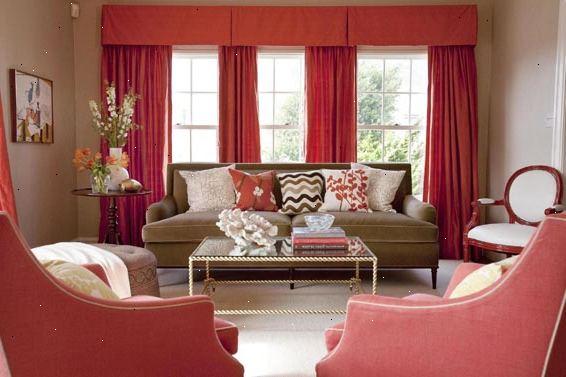 Sådan at farve match fløjl gardiner til stuen møbler