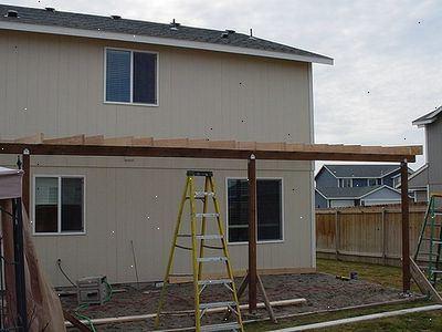 Find gårdhave tag design ideer: bygge en overdækket terrasse